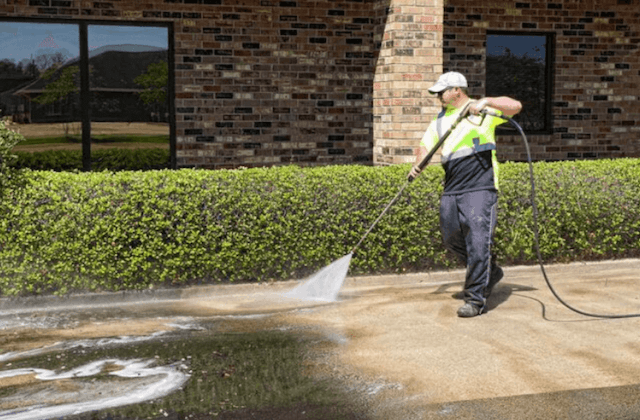 commercial concrete cleaning in elk grove